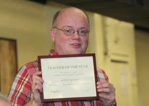 Teacher of the Year for his lectures at both 2013 New York Regionals